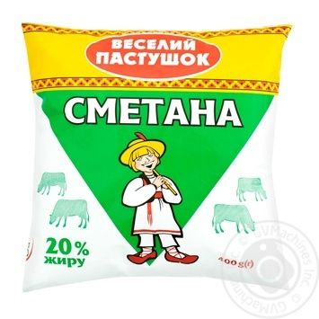 Veselyi pastushok Sour cream 20% 400g