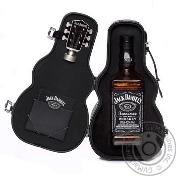 Виски Jack Daniel's Tennessee Old No.7 40% 0,7л в футляре гитары - купить, цены на СитиМаркет - фото 1