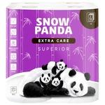 Туалетная бумага Snow Panda superior четырехслойная 8шт