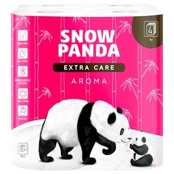 Туалетная бумага Snow Panda aroma четырехслойная 8шт