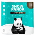 Туалетная бумага Snow Panda sensitive трехслойная 4шт