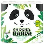 Папір туалетний Сніжна панда 8шт