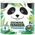 Рушники паперові Сніжна панда 4шт