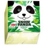 Салфетки Сніжна панда 1слой желтые 24х24см 100шт/уп