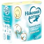 Бумага туалетная Ніжний дотик Aroma Gold двухслойная 4шт