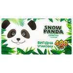 Серветки Snow Panda одношарові 24х24см 400шт
