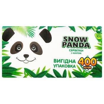 Салфетки Snow Panda однослойные 24х24см 400шт