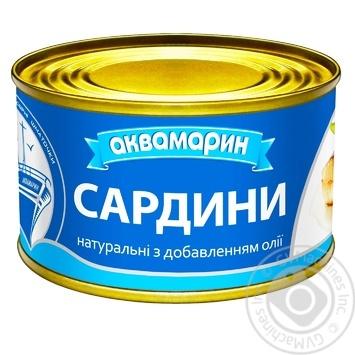 Сардины Аквамарин натуральные с добавлением масла 230г - купить, цены на Восторг - фото 5