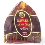 Шейка ХМК Итальянская из свинины сырокопченая высший сорт