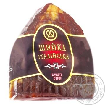 Шийка ХМК Iталiйська iз свинини сирокопчена вищий сорт
