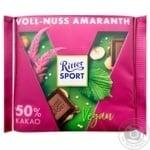 Шоколад Ritter Sport Vegan фундук и амарант 100г
