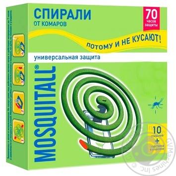 Спираль Mosquitall для защиты от комаров  10 шт