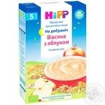 Каша молочная Hipp Organic Спокойной ночи овсяно-пшеничная с яблоком для детей с 5 месяцев 250г