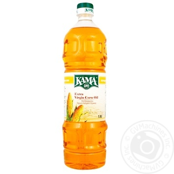 Kama Extra Virgin unrefined corn oil 1L - buy, prices for MegaMarket - image 1
