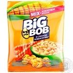 Микс арахиса жареного соленого и кукурузы жареной Big Bob со вкусом Колбаски BBQ 70г