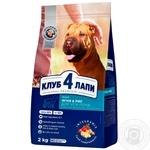 Корм для собак Клуб 4 лапы для всех пород рис ягненок 2кг