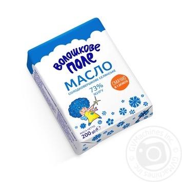 Масло Волошкове Поле Селянське солодковершкове 73% 200г Україна - купити, ціни на Фуршет - фото 2