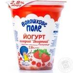 Йогурт Волошкове поле Полуниця десертний 2,8% 280г