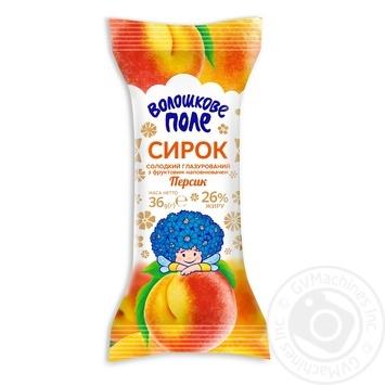Сырок Волошкове поле сладкий глазированный с фруктовым наполнителем персик 26% 36г - купить, цены на Таврия В - фото 1