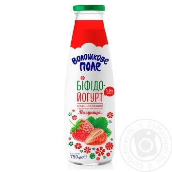 Бифидойогурт Волошкове поле Клубника витаминизированный 1,5% 750г