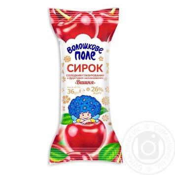 Сирок  Волошкове поле Вишня в шоколадній глазурі 26% 36г - купити, ціни на Фуршет - фото 1