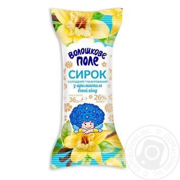Сирок Волошкове поле солодкий глазурований Ваніль 26% 36г - купити, ціни на Фуршет - фото 1