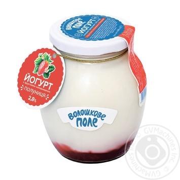 Йогурт Волошкове поле Десертный клубника 2.8% 350г