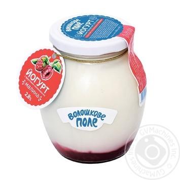 Yogurt Voloshkove pole Dessert raspberry 2,8% 350g