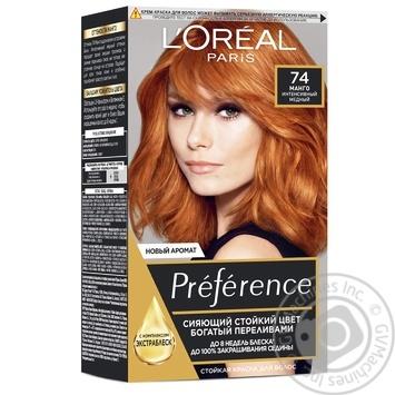 Краска для волос L'Oreal Recital Preference 74 Манго интенсивный медный - купить, цены на Восторг - фото 1