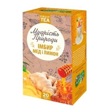 Чай Поліський чай Імбир, мед і лимон фруктово-імбирний в пакетиках 2г*20шт - купити, ціни на Novus - фото 1