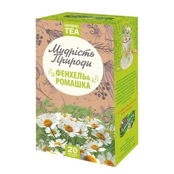 Poliskyi Chai Fennel and Chamomile Herbal Tea in Sachets 1,5g*20pcs - buy, prices for MegaMarket - image 1