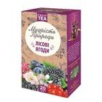 Чай Поліський чай Лісові ягоди фруктово-ягідний в пакетиках 2г*20шт