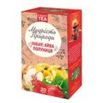 Чай Поліський чай Мудрість Природи Імбир, айва, полуниця імбирно-фруктовий в пакетиках 2г*20шт