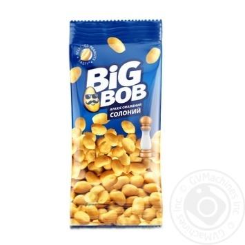 Арахіс Big Bob смажений солоний 70г - купити, ціни на МегаМаркет - фото 1