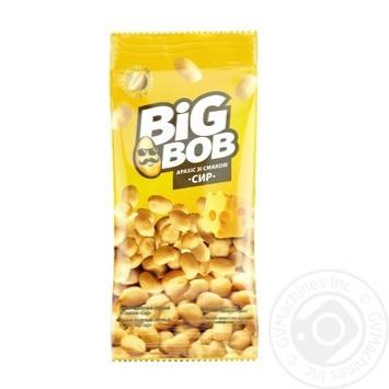 Арахис Big Bob жареный соленый со вкусом сыра 70г - купить, цены на СитиМаркет - фото 1