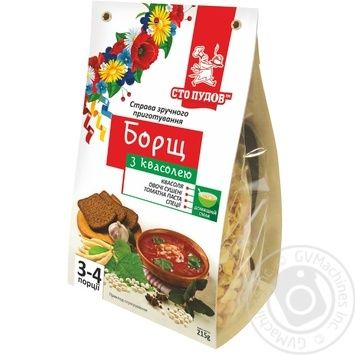 Sto Pudov With Beans Instant Borsch 215g - buy, prices for MegaMarket - image 1