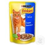 Корм Friskies С тунцом и морковью в желе для взрослых котов 100г