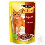 Корм Friskies С говядиной в подливке для взрослых котов 100г