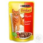 Корм Friskies С индейкой и печенью в подливке для взрослых котов 100г