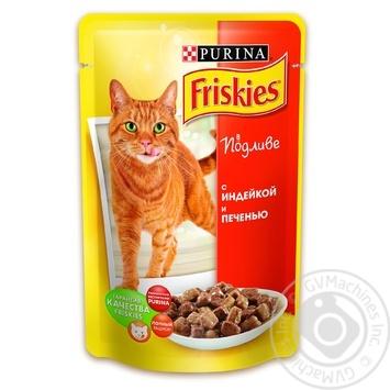 Скидка на Корм Friskies С индейкой и печенью в подливке для взрослых котов 100г