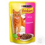 Корм Friskies С говядиной в желе для взрослых котов 100г