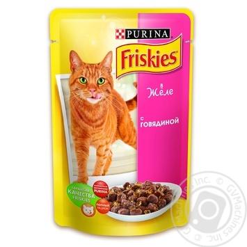 Скидка на Корм Friskies С говядиной в желе для взрослых котов 100г