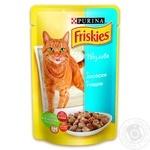 Корм Friskies С лососем и тунцом в подливке для взрослых котов 100г