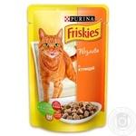Корм Friskies С курицей в подливке для взрослых котов 100г