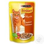 Корм Friskies С индейкой и морковью в подливке для взрослых котов 100г