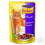 Корм Friskies С говядиной и ягненком в подливке для взрослых котов 100г
