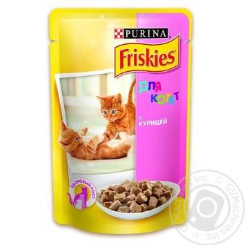 Скидка на Корм Friskies С курицей в подливке для котят 100г