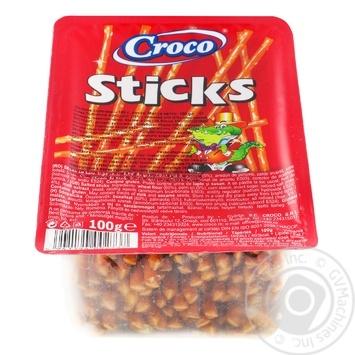 Соломка Croco Sticks солона з сіллю 100г - купити, ціни на Метро - фото 1