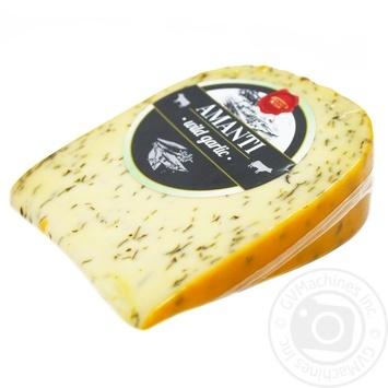 Сыр Daily Dairy Amanti голландский сычужный зрелый с чесноком 50% 200г - купить, цены на Метро - фото 1