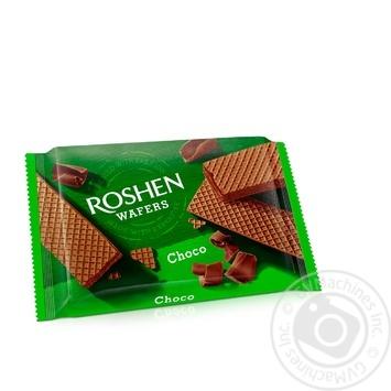 Вафлі Roshen Wafers шоколад 72г - купити, ціни на Novus - фото 1